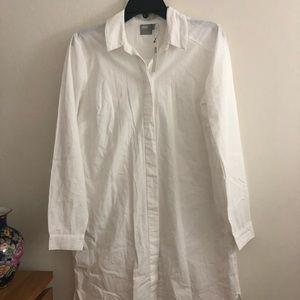 ASOS white long sleeve dress